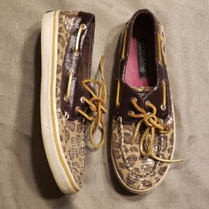 Sperry Leopard Sequin Boat Shoes